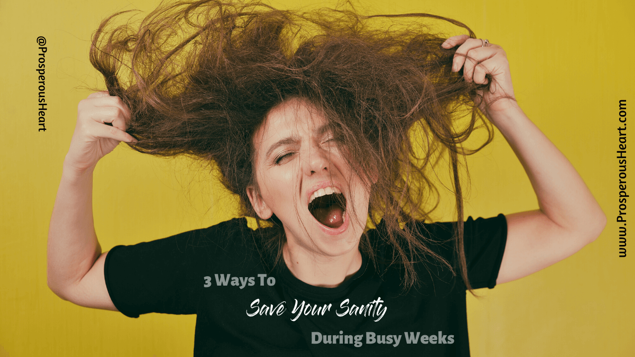 youtube cover image for 3 Ways To Save Your Sanity During Busy Weeks