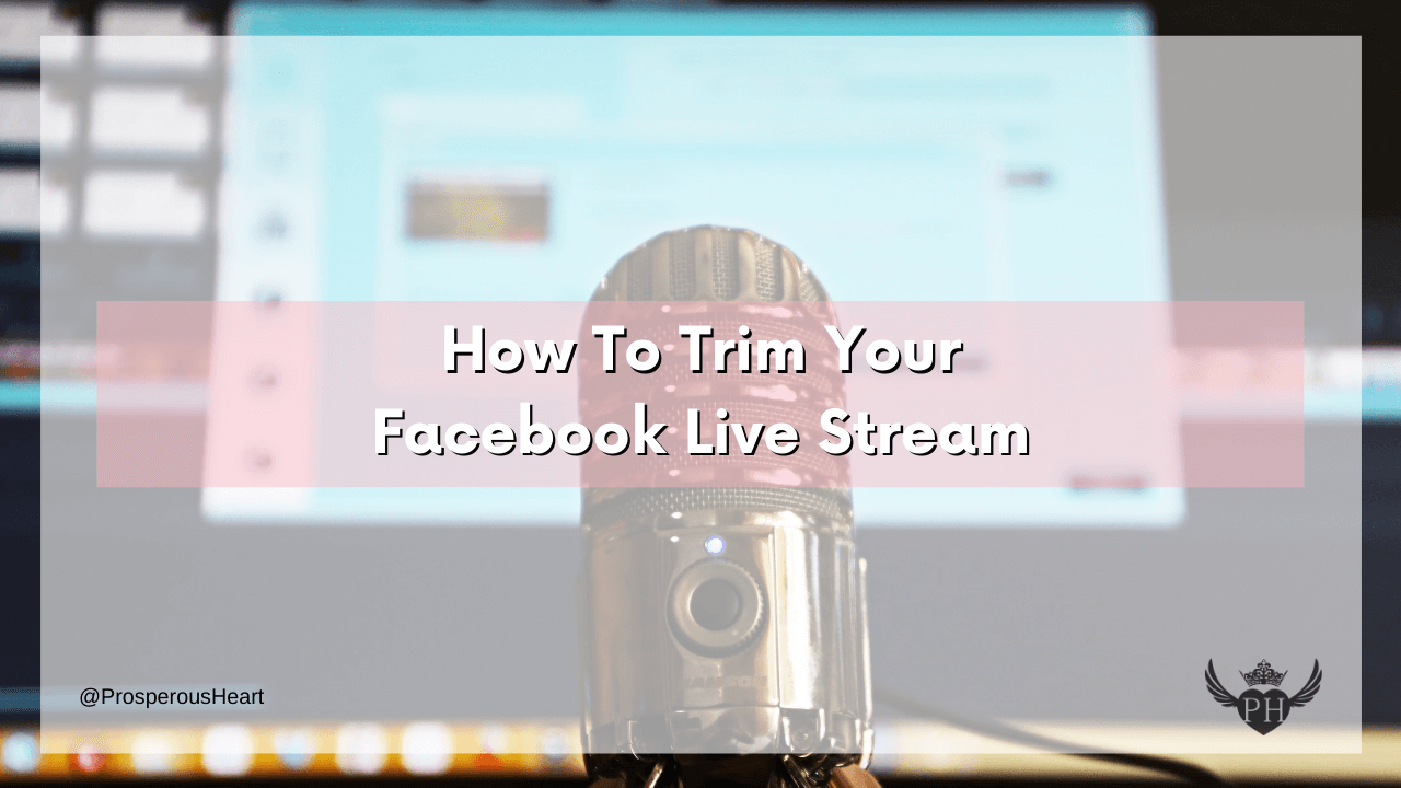 title of video with social media handle and site logo - how to trim your live stream
