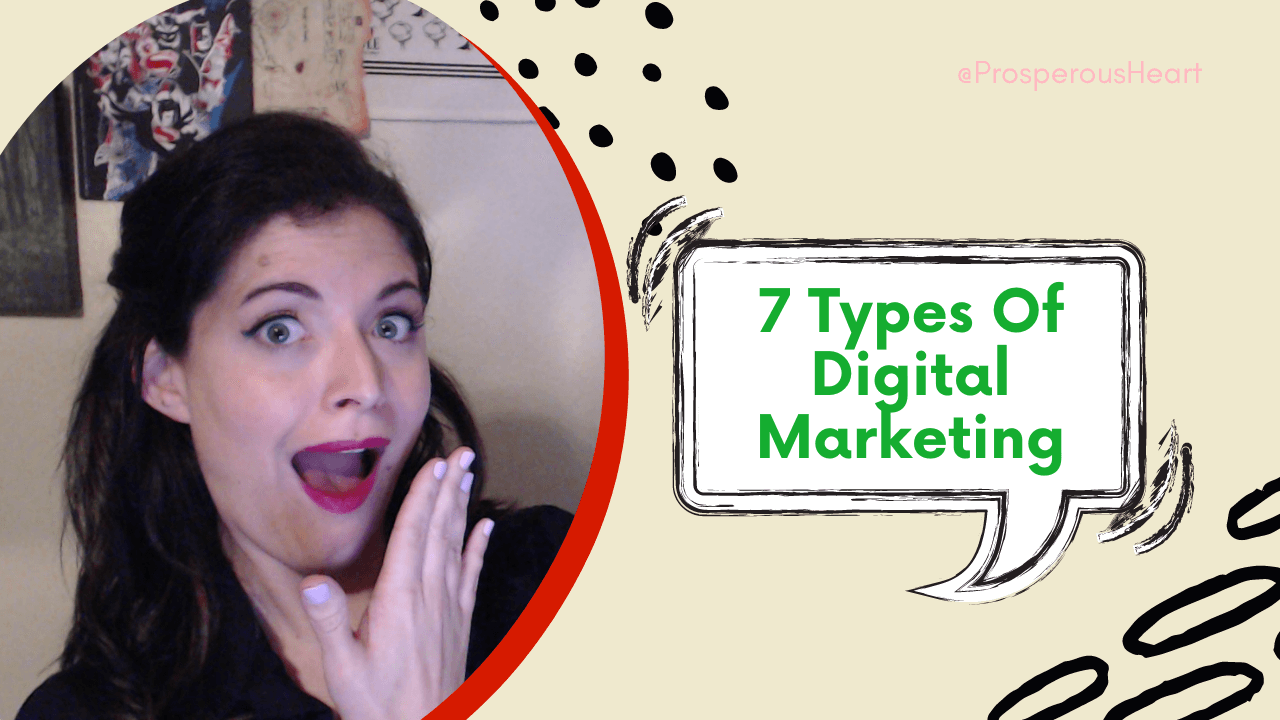 7 Types Of Digital Marketing With Kassandra The Prosperous Heart Making A Silly Face
